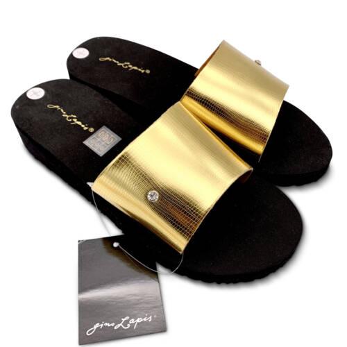 Pantolette von Gino Lapis in Gold/Schwarz