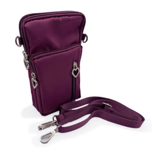 Mini Bag Umhängetasche Geldbeutel Smartphone Burgundy