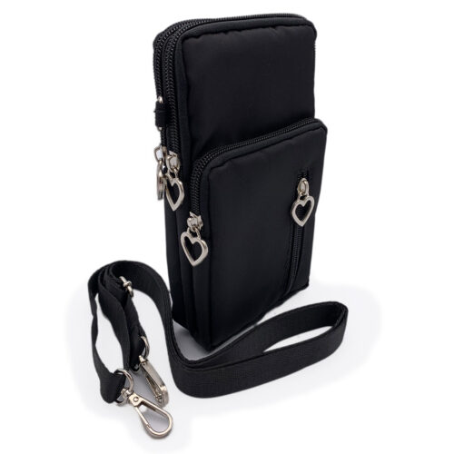 Mini Bag Umhängetasche Geldbeutel Smartphone Schwarz