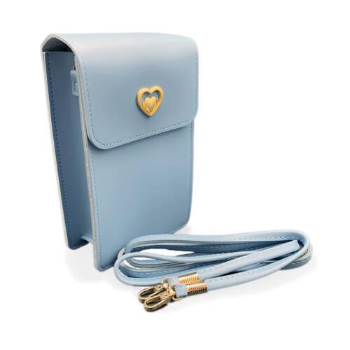 Mini Umhaengetasche Handtasche Damen hellblau