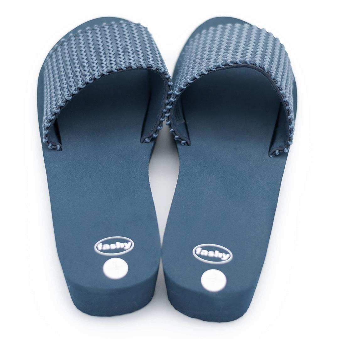 Fashy Damen Pantolette Strandschuhe marineblau