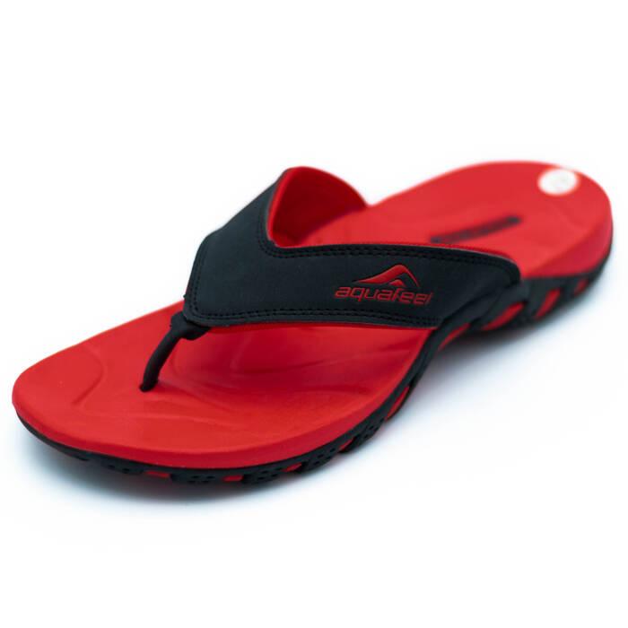 Flip Flops Herren Zehentrenner rot schwarz Aquafeel Winside